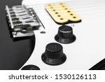 Macrophoto Of Electric Guitar...