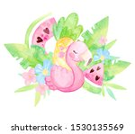 Hand Painted Watercolor. Cute...