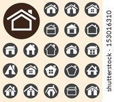 houses icons set. a vector... | Shutterstock .eps vector #153016310