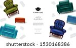 realistic furniture objects...   Shutterstock .eps vector #1530168386