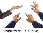 woman hands on white background | Shutterstock . vector #153016889