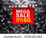 modern mega sale banner with... | Shutterstock .eps vector #1530181283