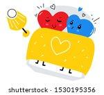 vector illustration of enamored ... | Shutterstock .eps vector #1530195356