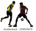 two men soccer player playing... | Shutterstock . vector #153019673