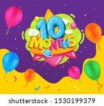 ten months baby poster. vector... | Shutterstock .eps vector #1530199379