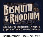 vector font alphabet  bismuth   ... | Shutterstock .eps vector #1530203540