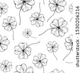 clover pattern. hand drawn four ... | Shutterstock .eps vector #1530206216