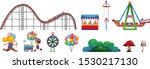 isolated objects from circus...   Shutterstock .eps vector #1530217130