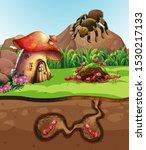 landscape design with ants...   Shutterstock .eps vector #1530217133