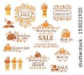 thanksgiving decorative elements | Shutterstock .eps vector #153021920