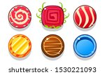 colorful glossy balls set ...