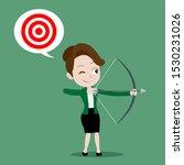 businesswoman standing and... | Shutterstock .eps vector #1530231026