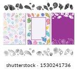 pattern shells  doodle shells ...   Shutterstock .eps vector #1530241736
