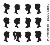 man and woman side profile head ... | Shutterstock .eps vector #1530243860