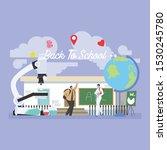 back to school education... | Shutterstock .eps vector #1530245780