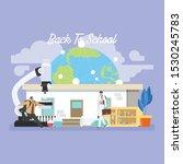 back to school education... | Shutterstock .eps vector #1530245783
