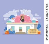 back to school education... | Shutterstock .eps vector #1530245786