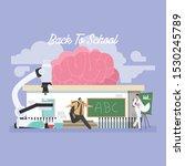 back to school education... | Shutterstock .eps vector #1530245789