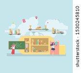 back to school education... | Shutterstock .eps vector #1530245810