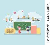 back to school education... | Shutterstock .eps vector #1530245816