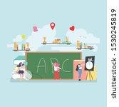 back to school education... | Shutterstock .eps vector #1530245819
