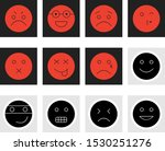 decent emoji icons isolated on... | Shutterstock . vector #1530251276