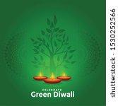 lovely green happy diwali... | Shutterstock .eps vector #1530252566