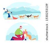 winter season activities and...   Shutterstock .eps vector #1530253139