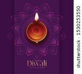 diwali diya top view beautiful... | Shutterstock .eps vector #1530253550