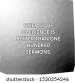 one act of obedience is better... | Shutterstock .eps vector #1530254246