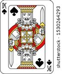 a playing card king of spades... | Shutterstock .eps vector #1530264293