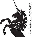 unicorn silhouette design... | Shutterstock .eps vector #1530264950
