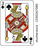 a playing card jack of spades... | Shutterstock .eps vector #1530267080