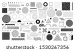 set of 100 geometric shapes.... | Shutterstock .eps vector #1530267356