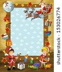 the happy christmas frame  ...   Shutterstock . vector #153026774