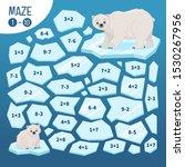 maze game for children.  help... | Shutterstock .eps vector #1530267956