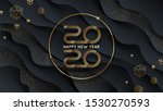 2020 new year logo. greeting... | Shutterstock .eps vector #1530270593