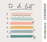 multicolored to do list... | Shutterstock .eps vector #1530288269