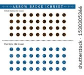 two sets of arrow badge icons....