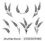 bakery set of wheat ears icon... | Shutterstock .eps vector #1530305480