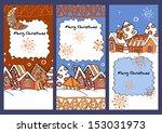 winter village. christmas. new... | Shutterstock .eps vector #153031973