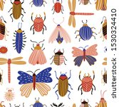 collection of insects.... | Shutterstock .eps vector #1530324410