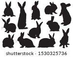 graphical set of bunny... | Shutterstock .eps vector #1530325736