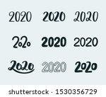 2020 set of inscriptions. new...   Shutterstock .eps vector #1530356729