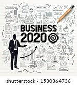 business drawing doodles icons... | Shutterstock .eps vector #1530364736