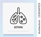 asthma thin line icon.... | Shutterstock .eps vector #1530369323