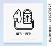 nebulizer thin line icon.... | Shutterstock .eps vector #1530370529