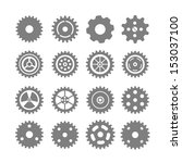 set of vector gears | Shutterstock .eps vector #153037100