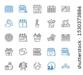 day icons set. collection of...