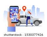smart city transportation... | Shutterstock . vector #1530377426